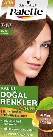 Palette 2017 Saç Renk Kartelası - Palette Tarçın Kahve Saç Boyası rengi