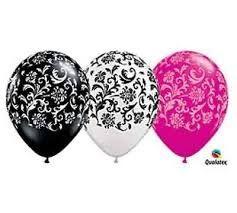 decoraciones con globos rosados negros y blanco - Buscar con Google