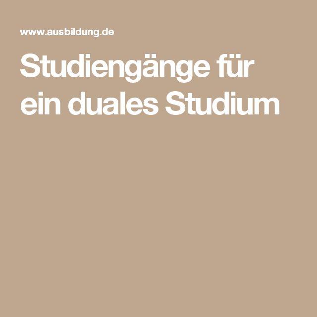 Studiengänge für ein duales Studium