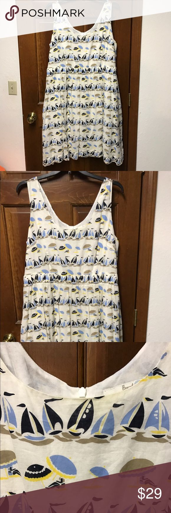 Boden dress size 18 sailboat print nautical Beautiful Boden dress in size 18. Worn one time. Excellent condition. Boden Dresses Midi