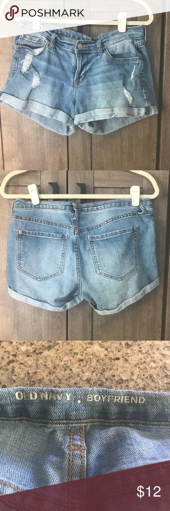 "Old Navy Boyfriend Distressed shorts Old navy boyfriend jean shorts. Size 4. Inseam 3"". Old Navy Shorts"