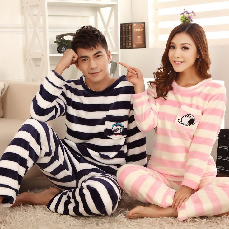 Mink Cashmere Couple Winter Pajama Set