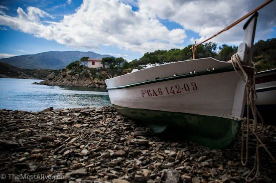 TRAVEL PHOTO OF THE WEEK: FISHING BOATS IN CADAQUÉS, CATALONIA@ http://themostalive.com/fishing-boats-in-cadaques-catalonia/