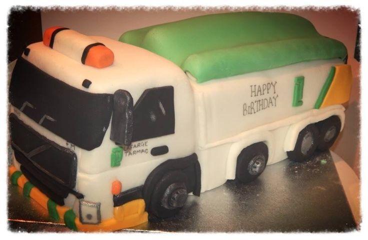 tarmac truck birthday cake
