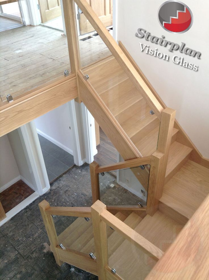 Best Oak Staircase With Vision Glass Balustrades Don T Like 400 x 300