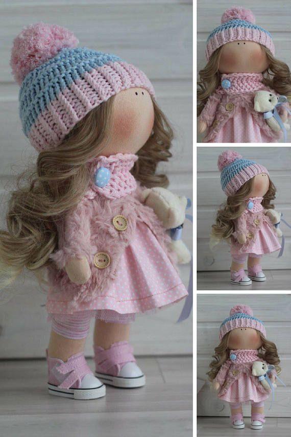 Rag doll Bambole Interior doll Textile doll by AnnKirillartPlace