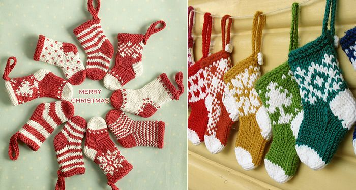 (Photos: L – little cotton rabbits; R- miyayo) 'Tis the season….! Well, maybe it is a little early but I thought I'd post this Mini Christmas Stocking Ornament pattern now t…