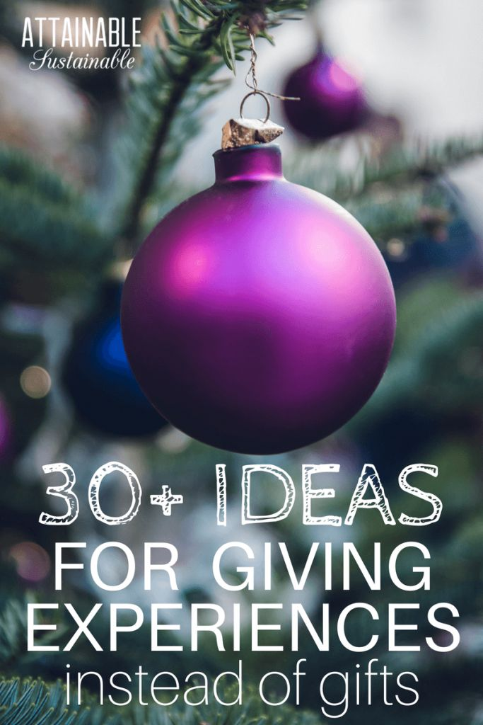 30 Ideas for Giving Experiences Instead of