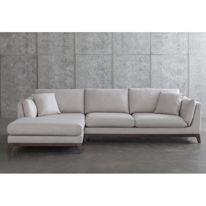 Ana Left Hand Facing Sectional Reviews Allmodern Sectional Sectional Sofa Living Room Designs