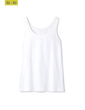 white crew neck tank top