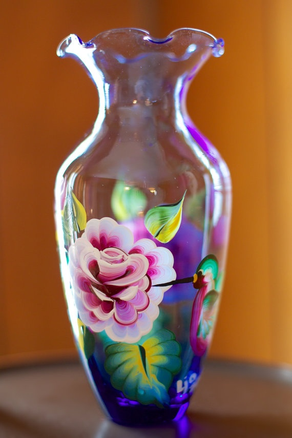 17 best images about hand painted glass bottles on for Can i paint glass with acrylic paint