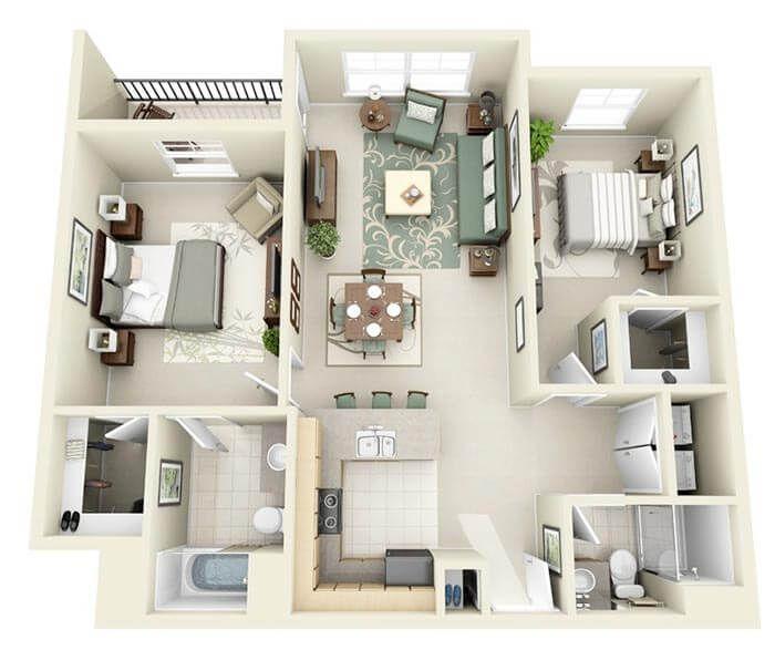 2+1 apartman projeleri