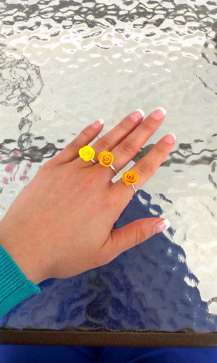 #roses #ring #clay