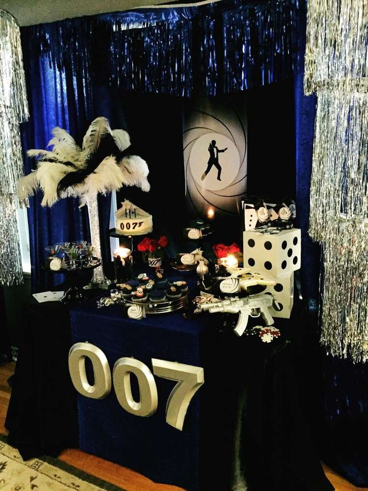 17 best images about james bond theme party ideas on for Decoration 007