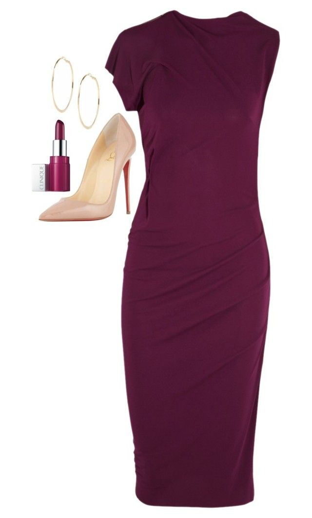 """""""Jessica Pearson Inspired Sets"""" by daniellakresovic ❤ liked on Polyvore featuring Clinique, Roland Mouret, River Island and Christian Louboutin"""