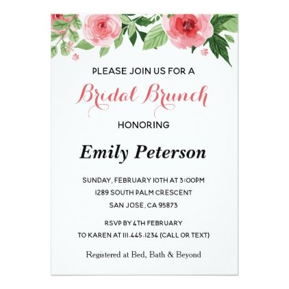 Pink Green Floral Bridal Shower Invitation - engagement gifts ideas diy special unique personalize