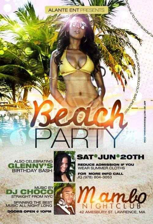 Beach Party Flyer by Zelery65