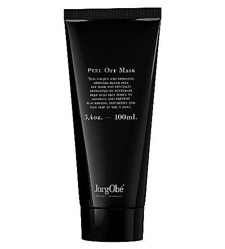JORGOBE SKIN CARE Black Peel Off Mask 100ml  JorgObé's Black Peel Off Mask deep-cleanses the pores, reduces the skin's production of excess oil and prevents new blackheads. Soothing plant extracts help the skin regain its natural moisture balance, leaving it soft and with markedly reduced pores.