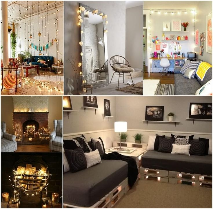 Design Your Living Room decorate your living room with string lights | living room