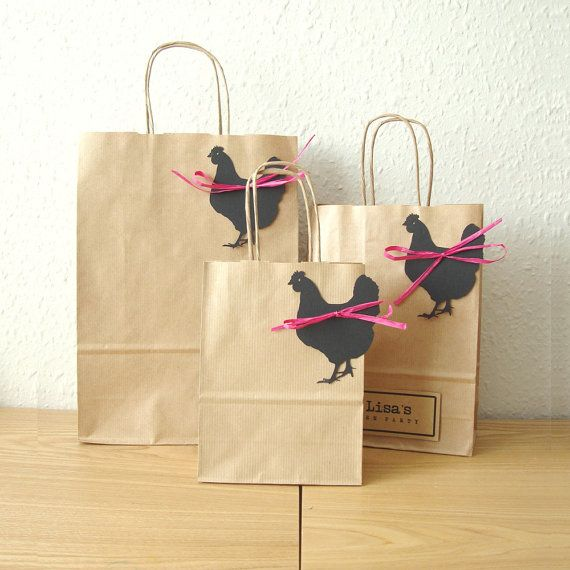 These bags are FAB! Perfect for putting a couple of goodies in for your hen party guests! Hen party bags set of 5 MEDIUM 18cm x 25cm x 8cm by shintashop