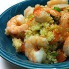 Foto della ricetta: Cous cous in insalata con gamberi, peperoni e feta