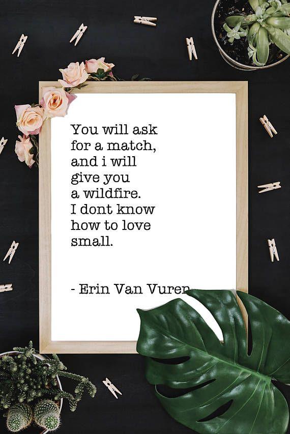 Minimalist Digital Downloadable Wall Art Quote by Erin Van