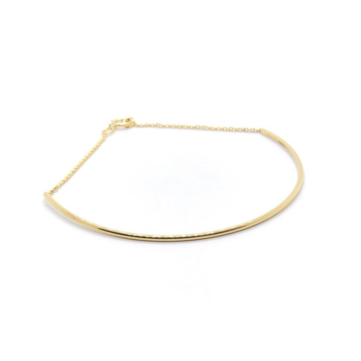 Fine Arc Bracelet in gold