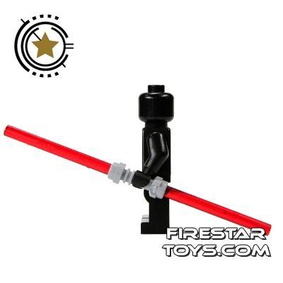 LEGO Lightsaber - Double Lightsaber - Red Blade Gray Hilt