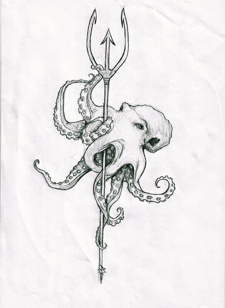 Poseidon's trident - Nice idea of the octy holding something