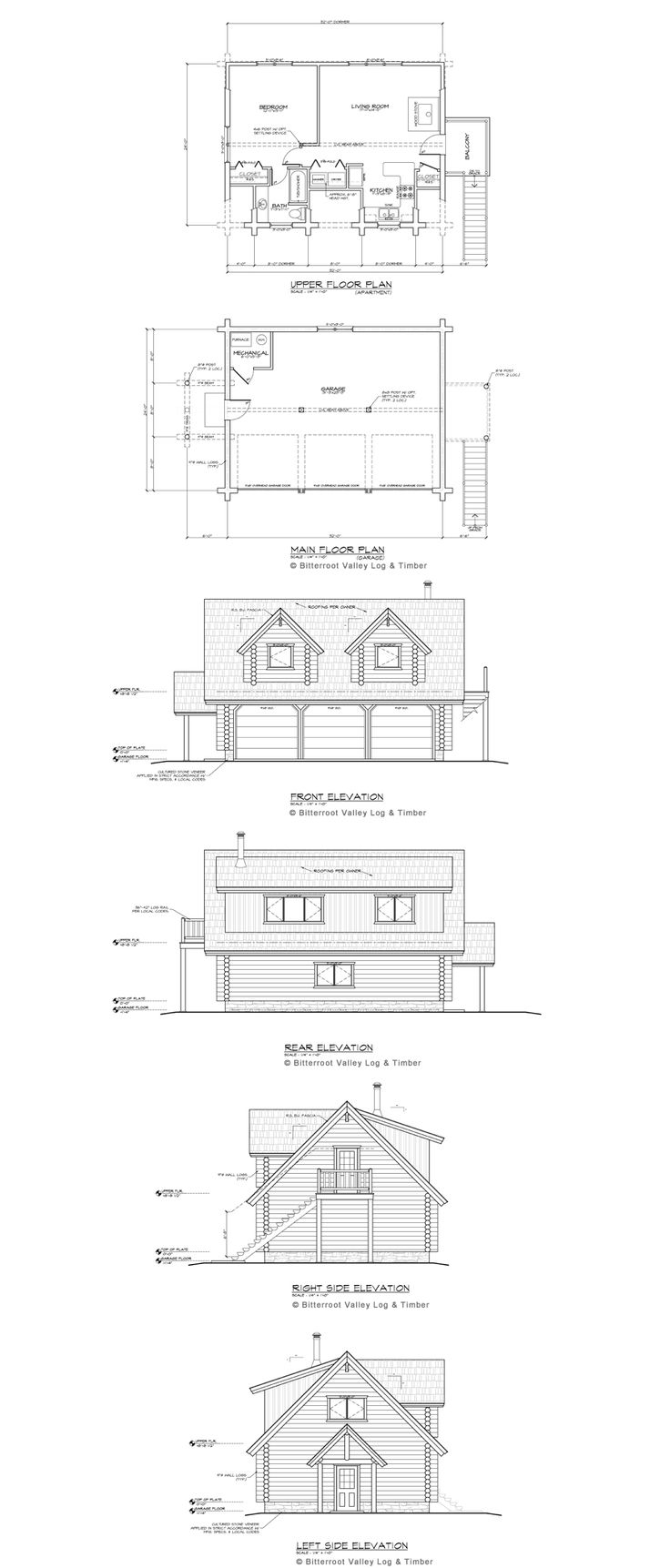 Log Garage Apartment Floor Plans
