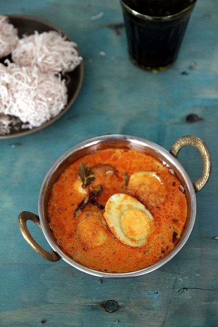 Sri Lankan Egg Curry and String Hoppas