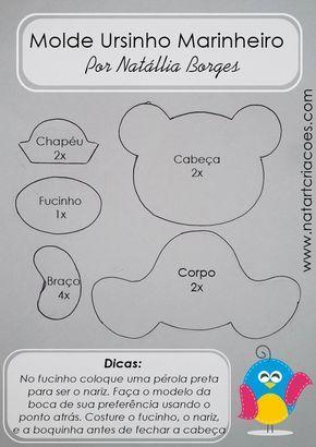 Natart Criações: Molde Ursinho Marinheiro (Gratuito)