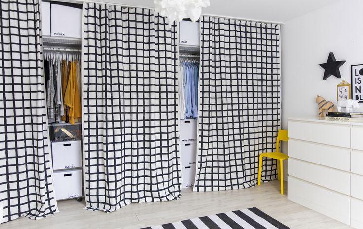 Utilizza delle tende al posto delle ante dell'armadio - IKEA