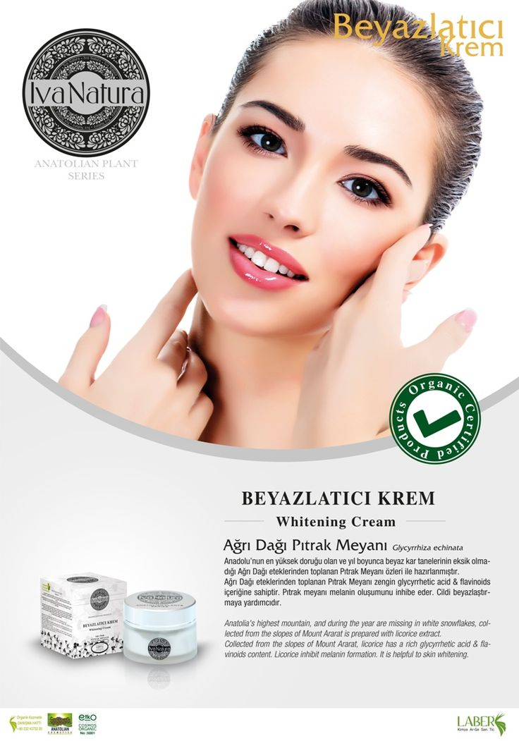 organic whitening cream from Ağrı mountain