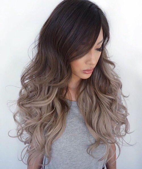 Image result for ash blonde ombre on dark hair