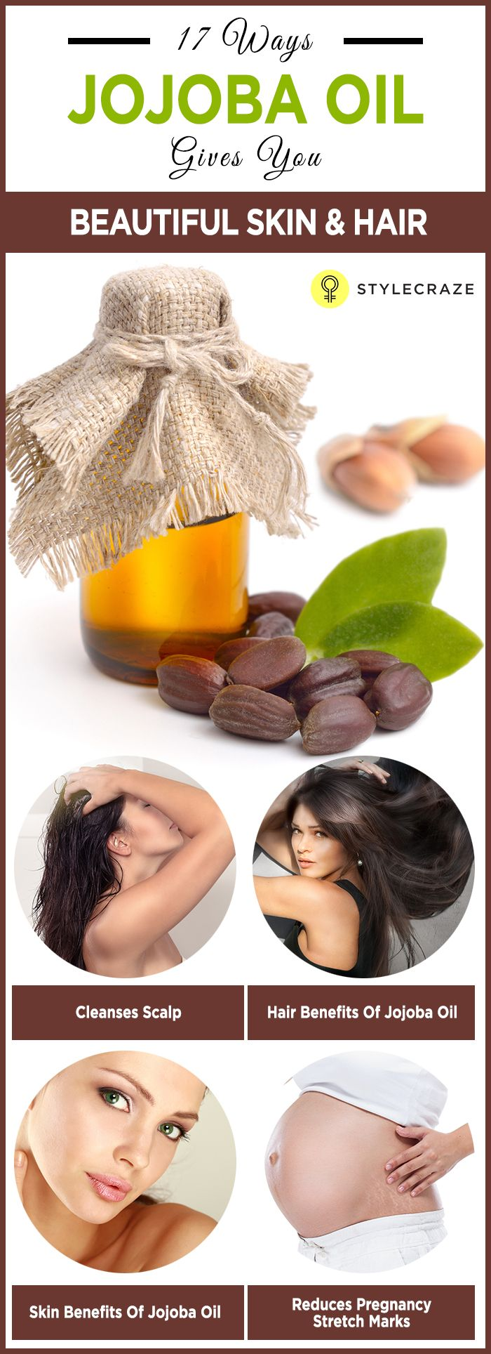 Be it a dry scalp or chapped lips – jojoba oil has a solution for everything. Jojoba oil is indeed a blessing as it is rich in important vitamins and minerals, including vitamins E and B-complex, zinc, copper, selenium, chromium, and iodine. And guess what? It suits all skin types. This amazing oil offers a plethora of benefits. Read on to know more. #Beautytips