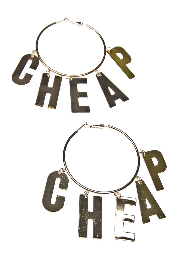 Letter Hoops Gold | Jewellery | CheapMonday.com
