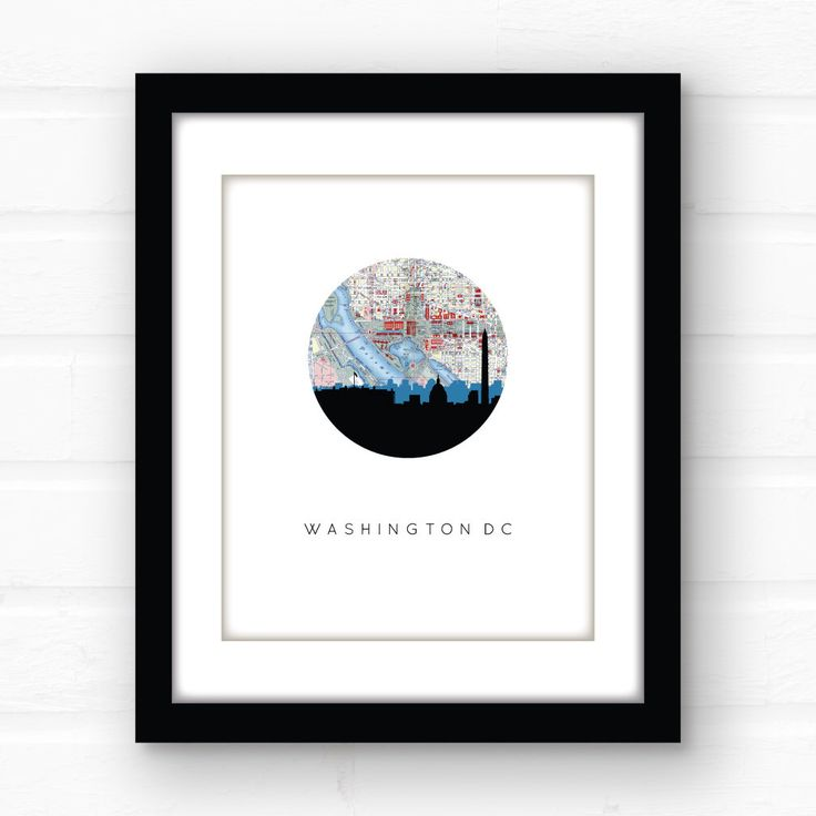 Washington DC map | Washington DC print | Washington DC skyline | District of Columbia print | Wasington dc art | travel poster | map art by PaperFinchDesign on Etsy https://www.etsy.com/listing/125852506/washington-dc-map-washington-dc-print