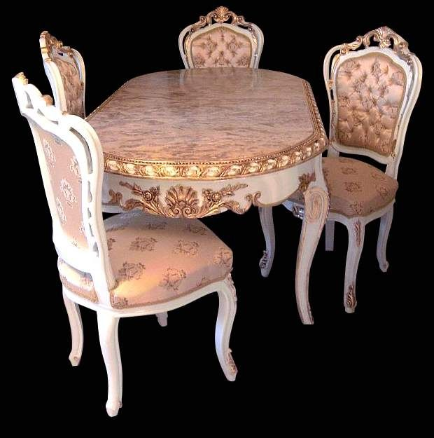 Custom Made French Louis XV Dining Set In The Baroque Style