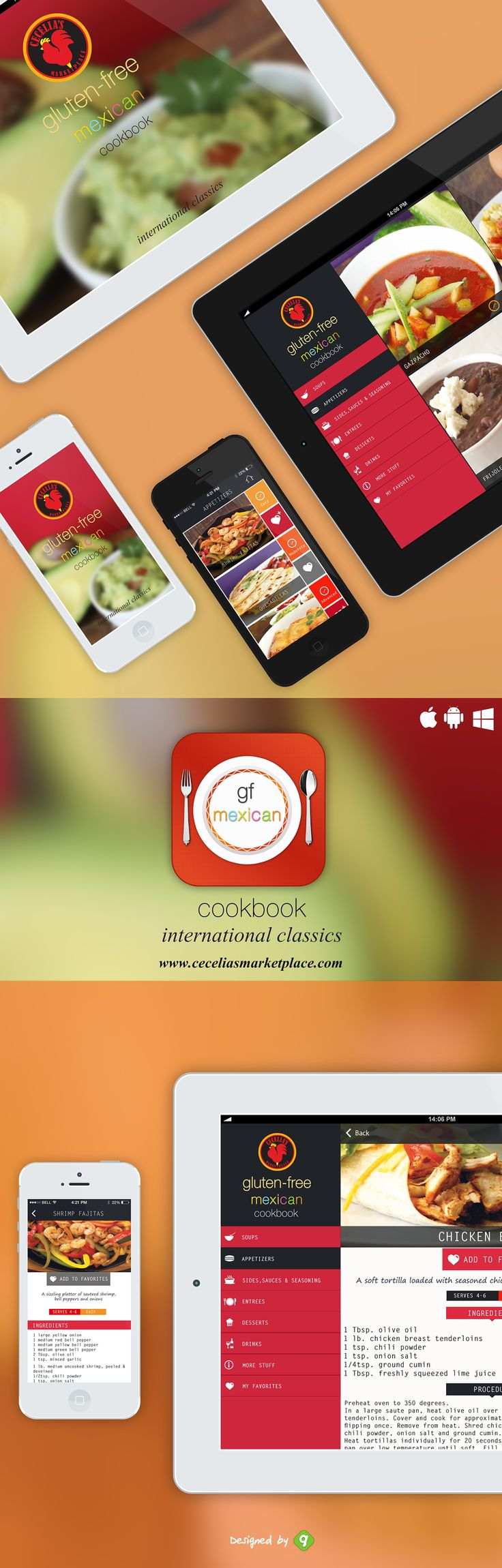 """This app is designed for Cecelias Marketplace- """" Gluten-Free Mexican Cookbook """"."""" Cecelia's Marketplace International Classics Gluten-Free Mexican Cookbook is a perfect way to incorporate new and exciting gluten-free flavors into your kitchen. You will …"""