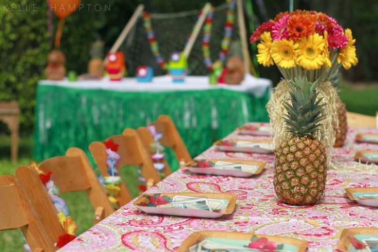 Hawaiian Themed Backyard Party :  party  party ideas  Pinterest  Luau Party, Parties and Hawaiian