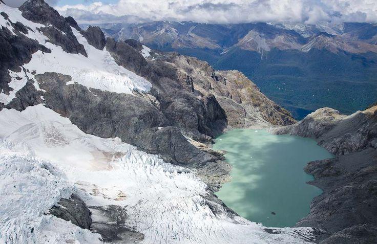 Ledovec Donne, Mt Tutoko, Fiordland, Nový Zéland