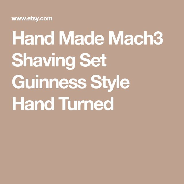 Hand Made Mach3 Shaving Set Guinness Style Hand Turned