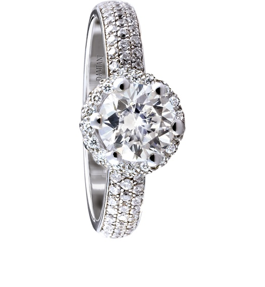 damiani white gold and diamonds ring