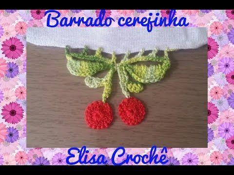 BARRADO FLORA EM CROCHÊ # ELISA CROCHÊ - YouTube