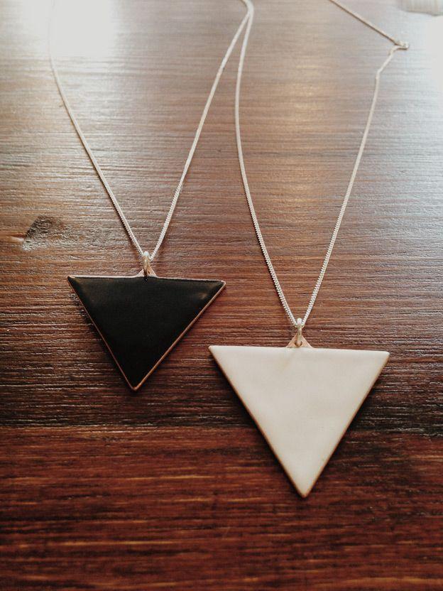 big enamel triangles
