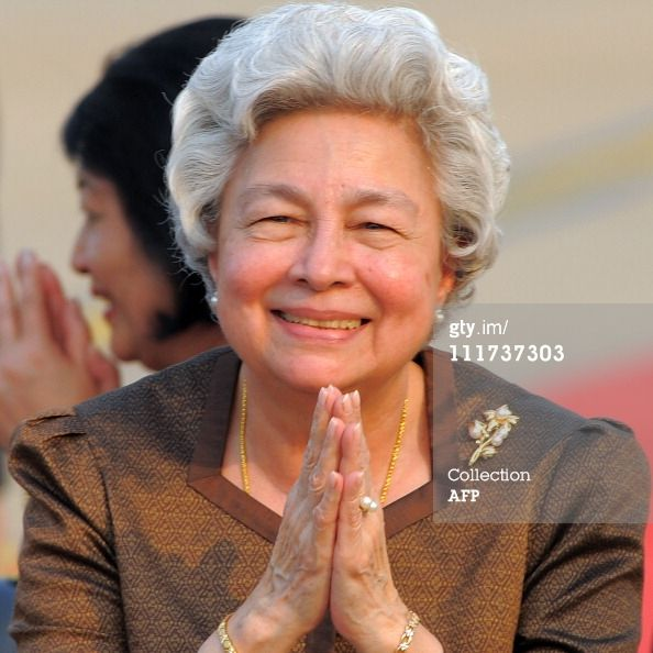 Her Majesty The Queen Mother Norodom Monineath of Cambodia.  Born Paule Monique Izzi, 18 June 1936. She previously served as the queen consort from 1993 to 2004. She is the widow of King-Father Norodom Sihanouk, whom she married in 1952.