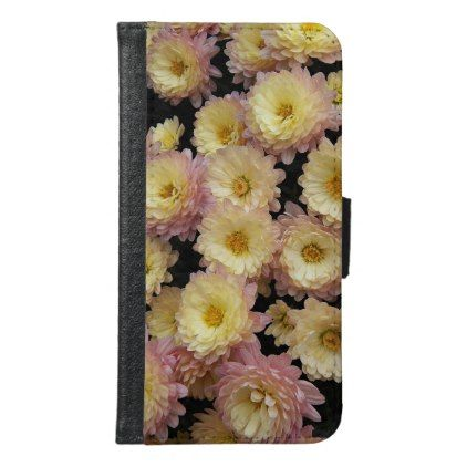 Bicolor Chrysanthemums Floral Wallet Phone Case For Samsung Galaxy S6 - flowers floral flower design unique style