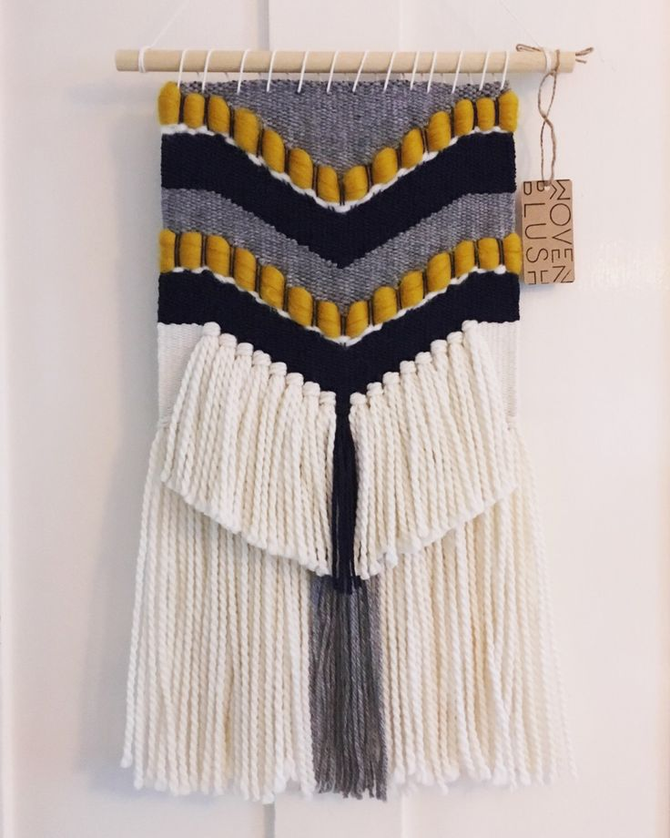 MADE TO ORDER - Hand Woven Wall Hanging with Chevron Detail by WovenBlush on Etsy https://www.etsy.com/uk/listing/483803884/made-to-order-hand-woven-wall-hanging