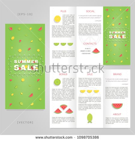 tri fold summer sale brochure template good for advertising and